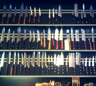 rows of knives